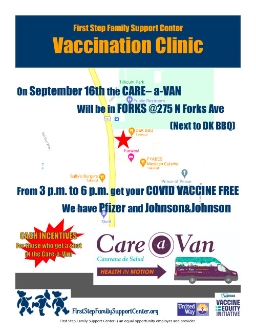 Forks Care-a-Van Vaccine Event 09-16-21